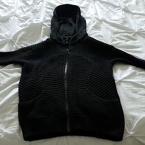 Lululemon knit jacket hoodie sz S black